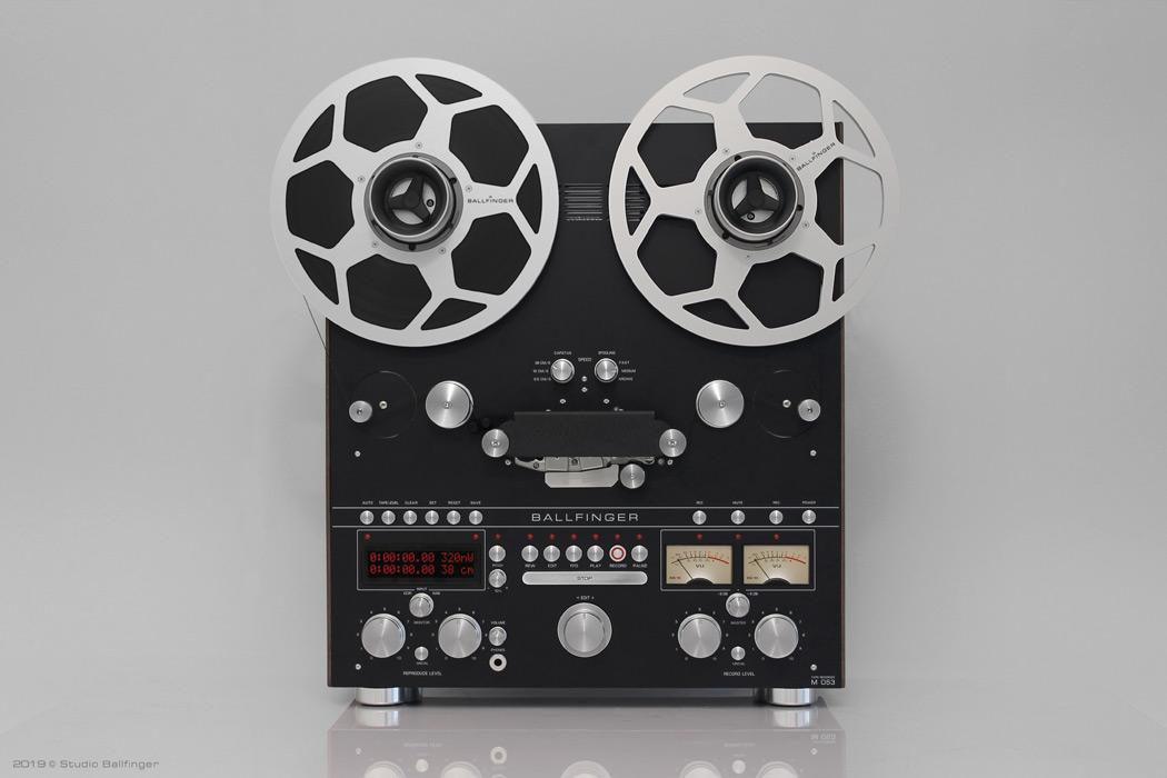 Tonbandmaschine Ballfinger M 063 H5 Vorderansicht schwarz
